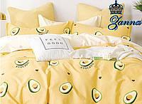 """Постельная ткань бязь """"Авокадо"""" желтого цвета, фото 1"""