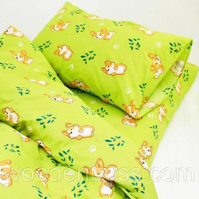 Детский комплект постельного белья 20122 зеленый