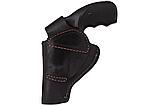 Кобура поясная Револьвер 3 формованная (кожа, чёрная), фото 5