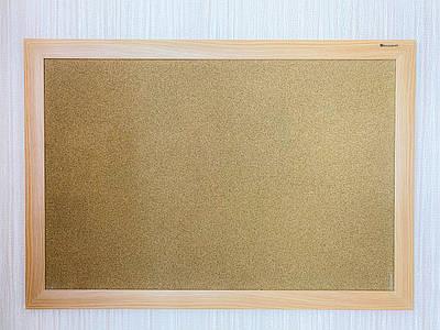 Доска пробковая в рамке МДФ, цвет бук