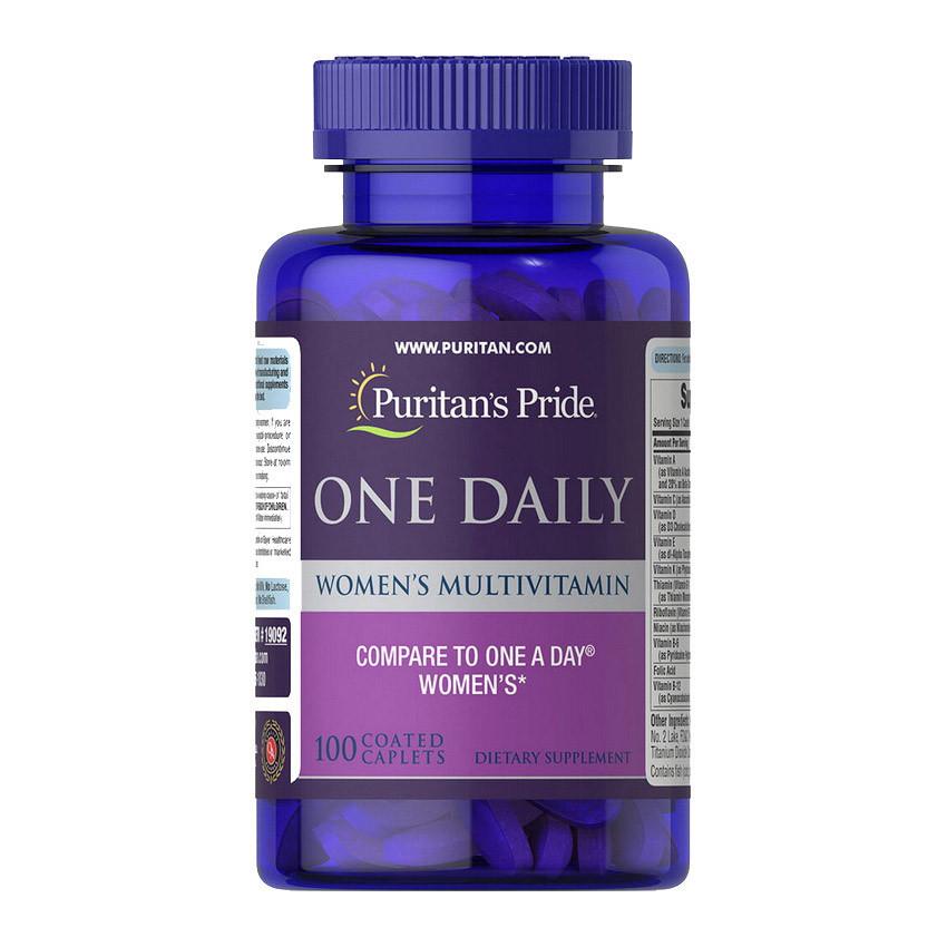 Витамины для женщин Puritan's Pride One Daily Women's Multivitamin 100 caplets