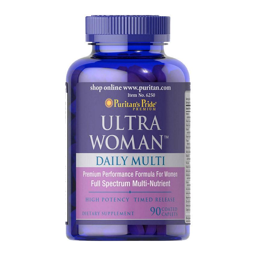Вітаміни для жінок Puritan's Pride Ultra Woman Daily Multi Time Release 90 caplets