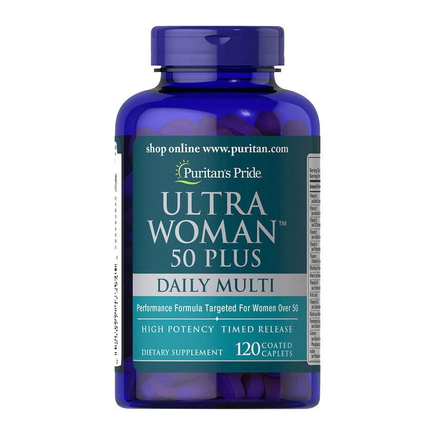 Витамины для женщин старше 50 лет Puritan's Pride Ultra Woman 50 Plus Daily Multi Timed Release 120 caplets