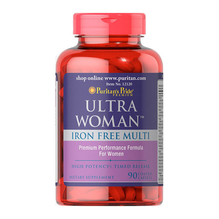 Вітаміни для жінок (без заліза) Puritan's Pride Ultra Woman Iron Free Multi 90 caplets
