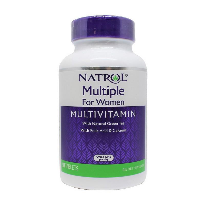 Вітамінно-мінеральний комплекс для жінок Natrol For Multiple Women With Folic Acid & Calcium 90 tab