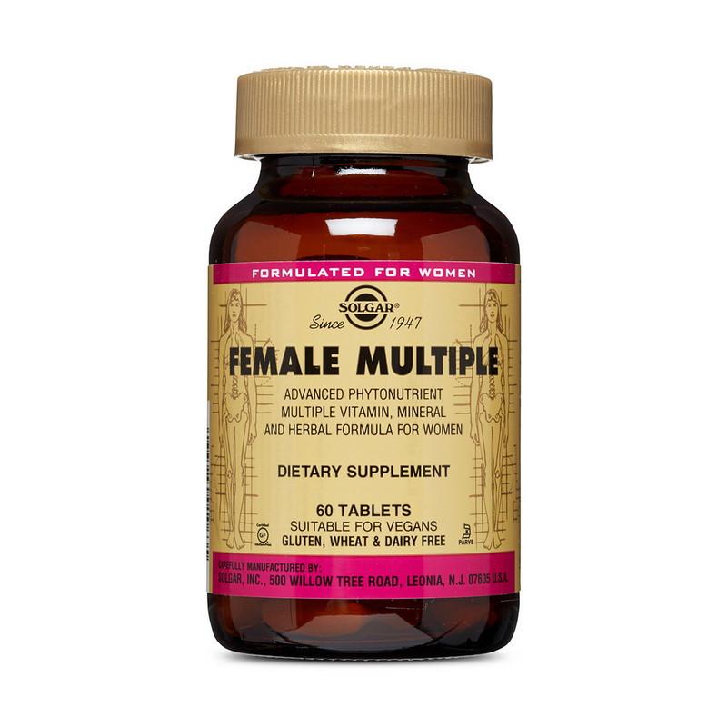 Комплекс вітамінів для жінок Solgar Female Multiple 60 tabs