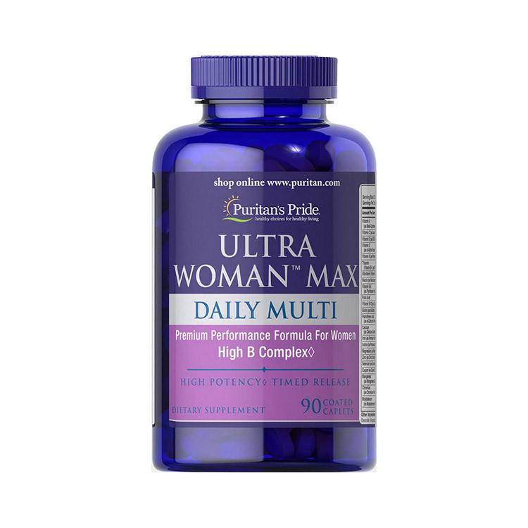 Комплекс витаминов для женщин Puritan's Pride Ultra Woman Max Daily Multi 90 caplets