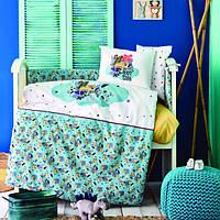 Детский набор в кроватку для младенцев Karaca Home Bummer индиго (10 предметов)