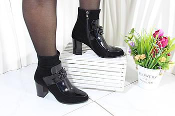 Комбинированные замшевые ботинки Battine B589