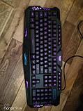 Набор 2 в 1: Игровая клавиатура M200 с подсветкой + Мышка с подсветкой (Английские буквы на клавиатуре), фото 2