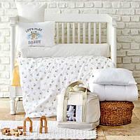 Детский набор в кроватку для младенцев Karaca Home Cute boy бежевый (7 предметов)