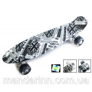 PENNY BOARD  22 C Рисунком BRITISH ITEM LED-Колёса