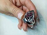 Кольцо Аметист (Бразилия) и Рубин. Размер 19. Серебро 925, покрытие белым золотом 14 карат, фото 8