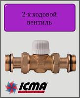 2-ходовой зонный вентиль ICMA поршневой 30х1,5