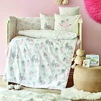 Детский набор в кроватку для младенцев Karaca Home Digna розовый (10 предметов)
