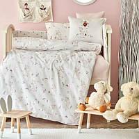 Детский набор в кроватку для младенцев Karaca Home Doe розовый (10 предметов)