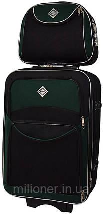 Комплект чемодан + кейс Bonro Style (небольшой) черно-зеленый, фото 2