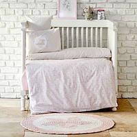 Детский набор в кроватку для младенцев Karaca Home Little пудра (7 предметов)