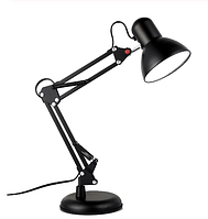 Настольная лампа на струбцыне E27, с подставкой черная