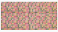 Панель ПВХ Регул Мозаїка Акцент червоний 955х488 мм