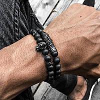 Мужской каменный браслет mod.7even
