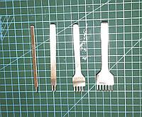 Пробойник шаговый для кожи 1+2+4+6 зубьев шаг 4мм пробойцы строчные просечки вилковые инструмент для кожи