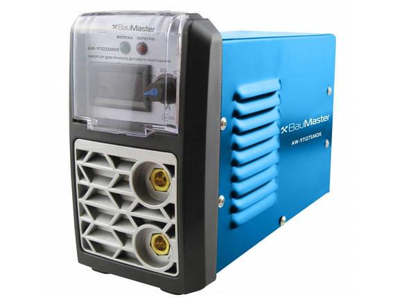 Инвертор сварочный IGBT 270А, смарт, дисплей, кейс, BauMaster AW-97I27SMDK, фото 2