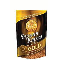 Кофе Чёрная карта Голд (Gold) растворимый 75г мягкая упаковка