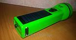 Фонарь лед аккумуляторный с солнечной панелью, фото 3