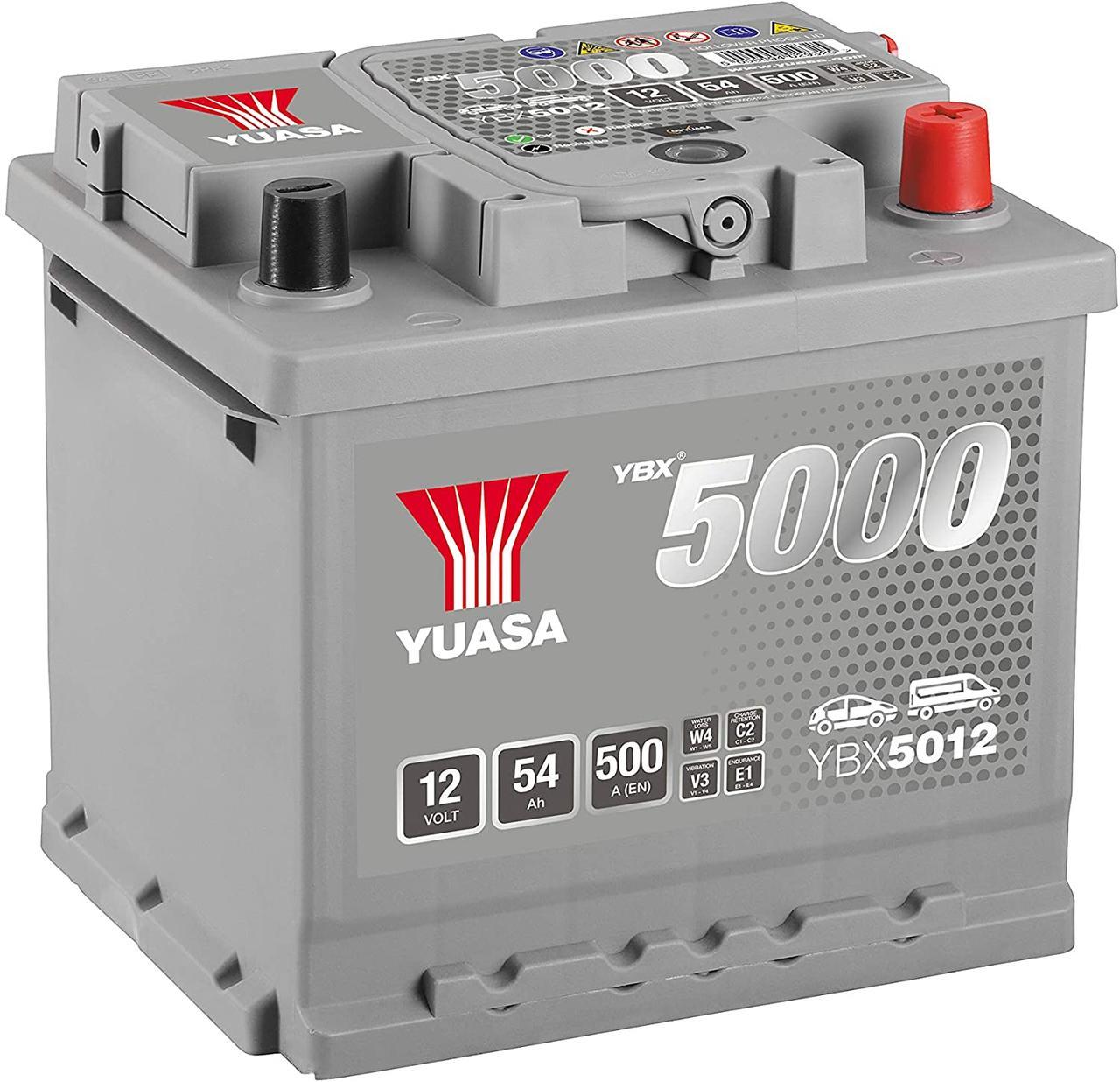 Yuasa 12V 54Ah Silver High Performance Battery (0)