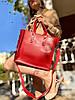 Жіноча сумка червона з екошкіри