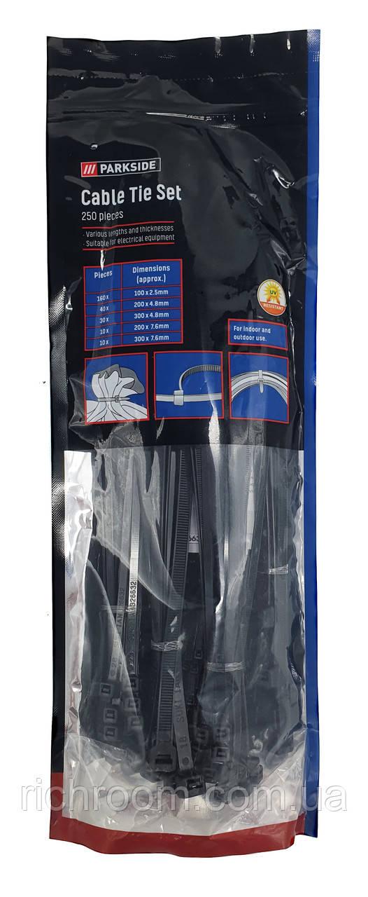 Кабельные стяжки (хомуты) из нейлона, набор 250 шт, PARKSIDE