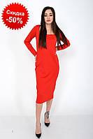 Женское платье 120R0402 Женская одежда (размеры: S-M) цвет Красный