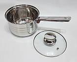 Набор посуды UNIQUE UN-5033 из нержавеющей стали 12 предметов, фото 3