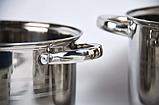 Набор посуды UNIQUE UN-5033 из нержавеющей стали 12 предметов, фото 6