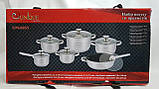 Набор посуды UNIQUE UN-5033 из нержавеющей стали 12 предметов, фото 10