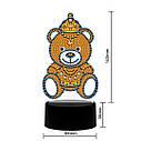 Набор для творчества Crystal art светодиодный светильник с алмазной мозаикой Мишка (MI_DP15), фото 4