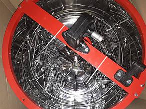 Медогонка 2-х рамочная, поворотная бак нержавеющий, кассеты оцинкованные