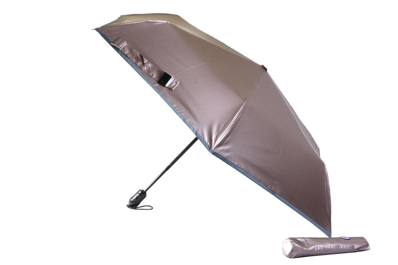 Женский и подростковый оригинальный маленький складной зонт автомат с перламутровым куполом на 6 спиц (22179)