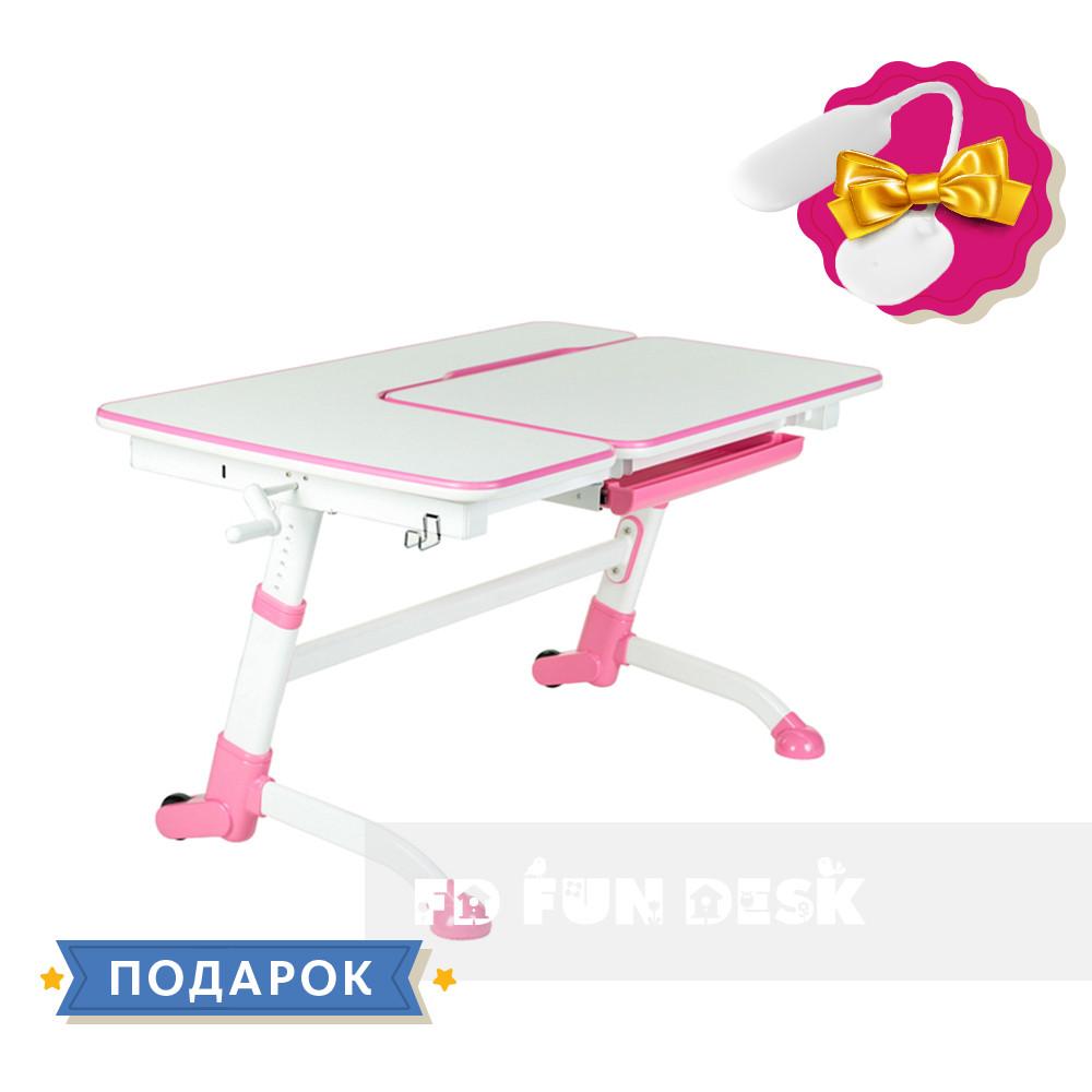 Стол-трансформер FunDesk Amare Pink + Книжная полка FunDesk SS16