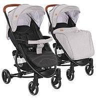 Коляска детская прогулочная LorelliS-300 Grey&Black от 0 до 3 лет, серо-черная