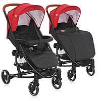 Коляска детская прогулочная LorelliS-300 Red&Black от 0 до 3 лет, красно-черная