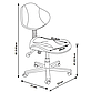 Комплект парта  FunDesk Volare Blue + детский стул для школьника FunDesk LST3 Blue-Grey, фото 10