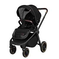 Прогулочная детская коляска черная Carrello Epicа черная рама утепленный чехол на ножки дождевик