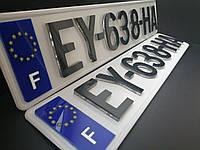 3Д 3D номера для автомобиля 3 мм для еврономеров