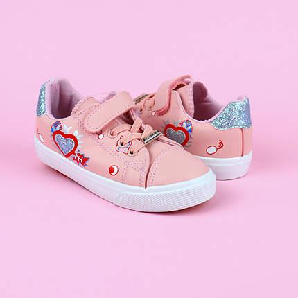 7075A Детские розовые кеды для девочки тм Tom.M размер 25,26,27,28,29,30, фото 2