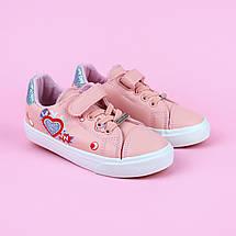 7075A Детские розовые кеды для девочки тм Tom.M размер 25,26,27,28,29,30, фото 3