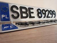 3Д 3D номера для автомобиля 6 мм для еврономеров