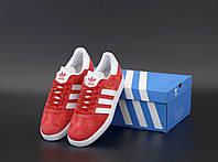 Кроссовки Adidas Gazelle OG Vintage красные (Адидас Газели мужские и женские размеры 36-45), фото 1