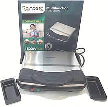 Контактный гриль Rainberg RB-5406, для барбекю с лотком для жидкости, 1500Вт, фото 3